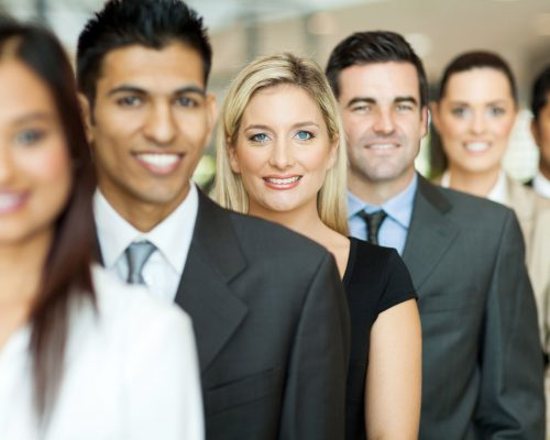 20784978 - group of business executives standing in a row
