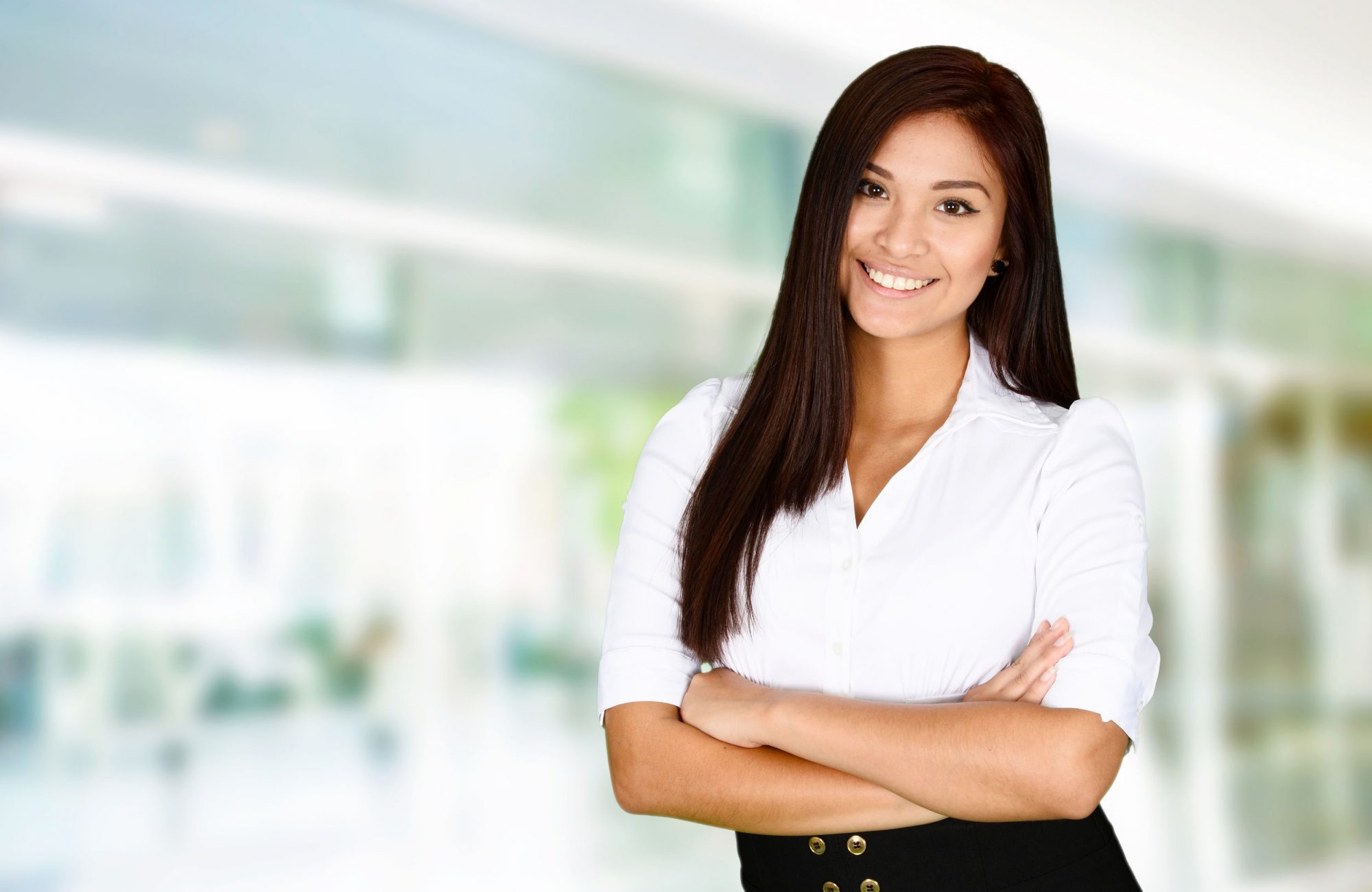 41605677 - business woman at the office ready to work